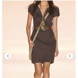 Milly of New York Embellished Linen Pocket Dress 6